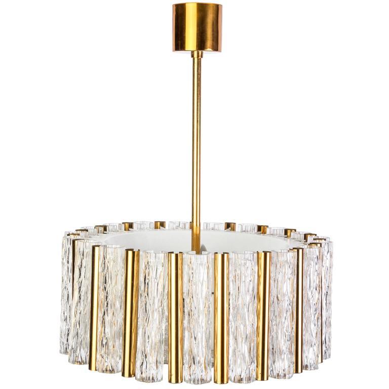 exceptional kaiser leuchten chandelier glass and brass. Black Bedroom Furniture Sets. Home Design Ideas