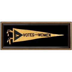 Rare Large Suffragette / Votes for Women Pennant, Elongated Format, 1910-1920