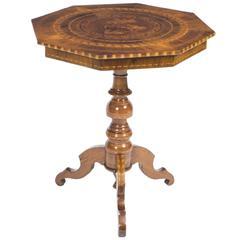 Antique Sorrento Occasional Table, circa 1860
