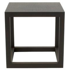 Black Oak Note Small Square Table by Piero Lissoni for Cassina, Italy