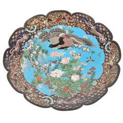Large Japanese Meiji Cloisonné Charger