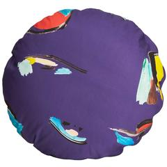 Circle Purple Pod Pillow
