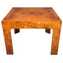 Burl Wood Side Table