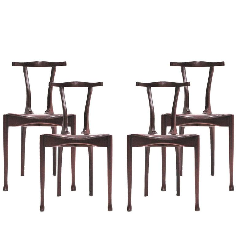 """Set of """"Gaulino"""" Chairs Designed by Oscar Tusquets"""