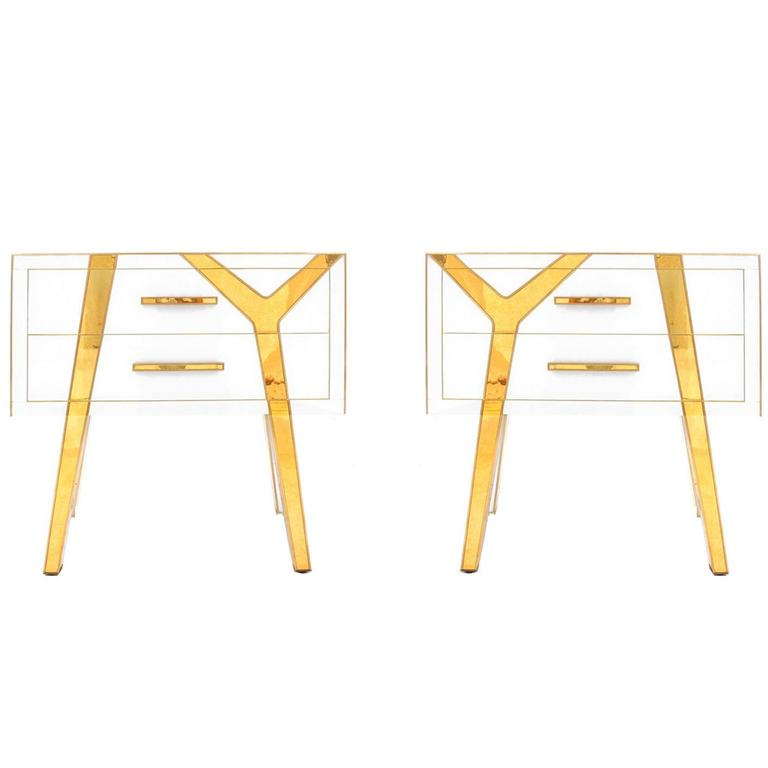 Pair of Beside Tables Designed by L.A Studio