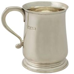 Sterling Silver Christening Mug by Edward Barnard & Sons Ltd, Vintage George VI