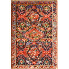 Small Size Antique Persian Malayer Rug. Size: 4 ft 2 in x 6 ft 3 in