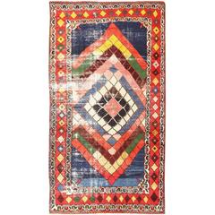 Primitive Vintage Tribal Persian Gabbeh Rug