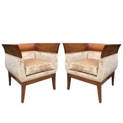 Pair Orlando Diaz-Azcuy Club chairs for HBF