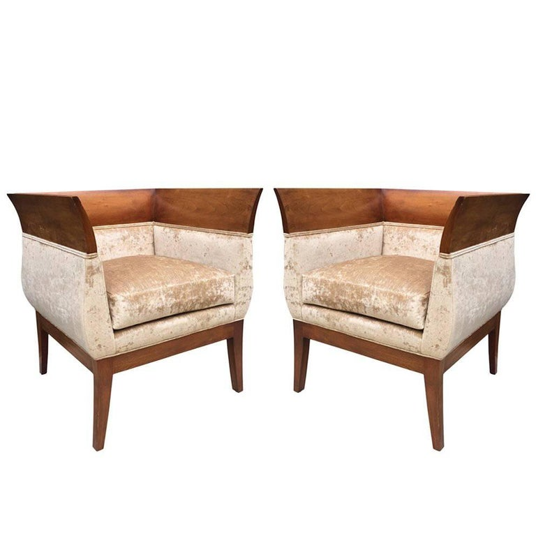 Pair Orlando Diaz Azcuy Club Chairs For Hbf For Sale At 1stdibs