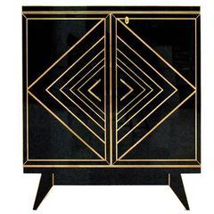 Italian Opaline Glass Sideboard