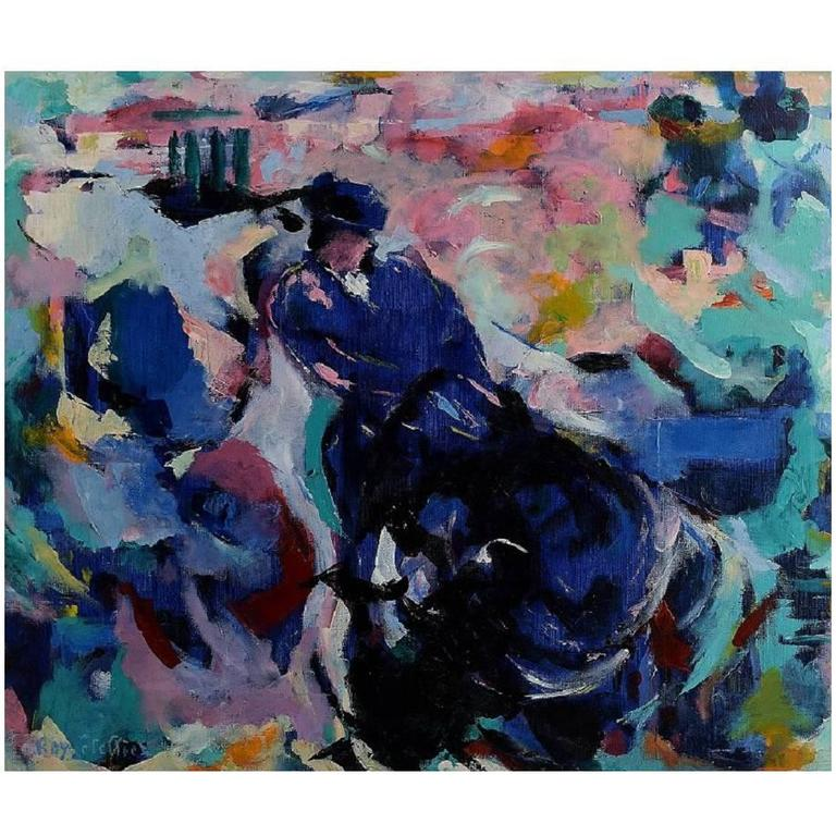 Ray Letellier, French Artist, Bullfighting, Oil on Canvas For Sale