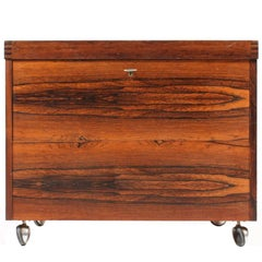 Danish Rosewood Dry Bar Cabinet, 1960s