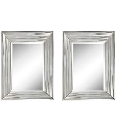 Pair of Mid-Century Rectangular Mirrors