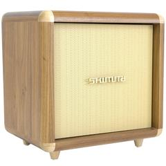 Shimna Stacks Cabinet: Inspired by a Vintage Guitar Amp in Walnut