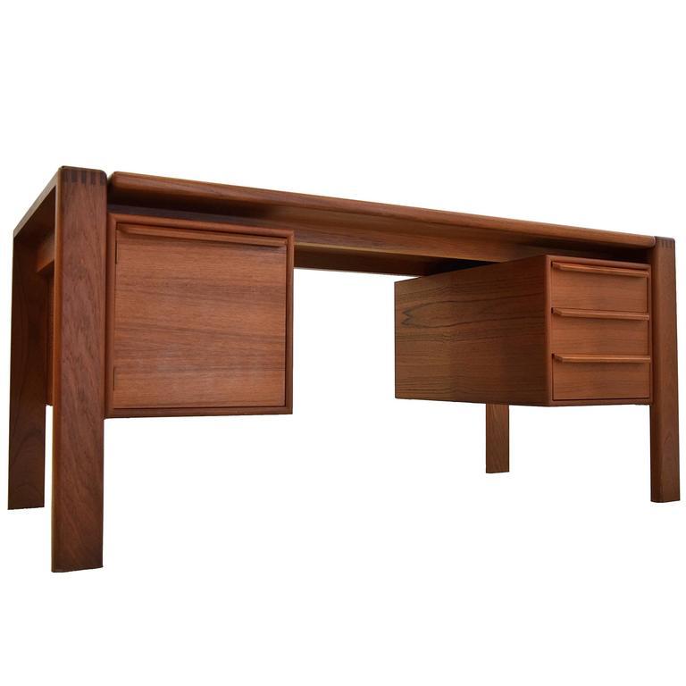 Teak Mid Century Modern Desk Made in Denmark