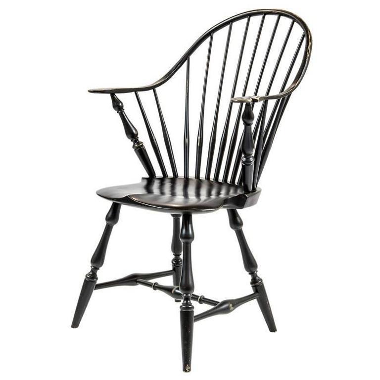 Shimna Windsor Captains Chair, Distressed Black Finish