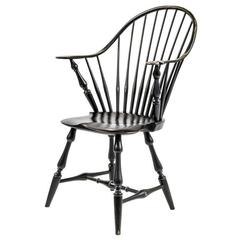 Shimna Windsor Captains Chair, Distressed Black Finish