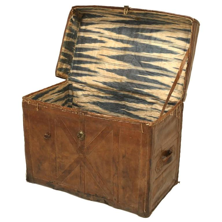 Antique Leather Trunk 1