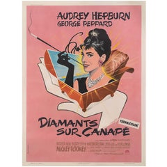 """Breakfast at Tiffany's / Diamants sur Canapés"" Original French Movie Poster"