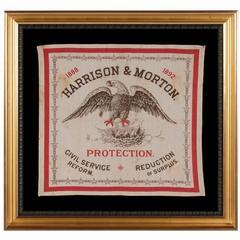 Rare Kerchief Made for the 1888 Campaign of Republican Benjamin Harrison
