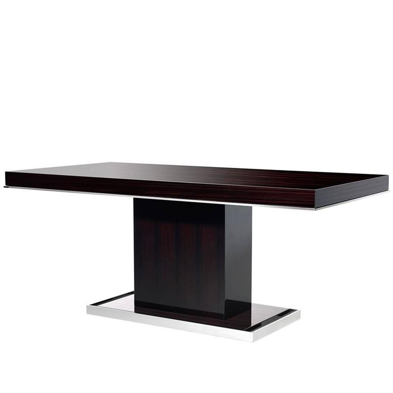 Chicago Dinning Table in High Gloss Ebony Finish