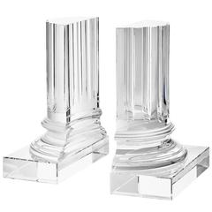 Crystal Glass Bookend Set of Two