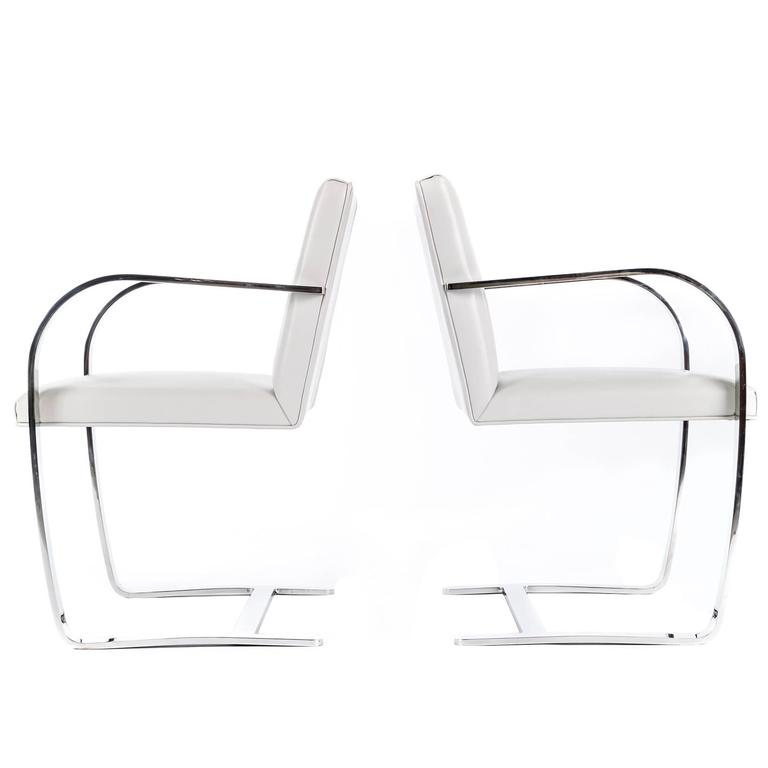 Pair of Mies Van Der Rohe Brno Chairs For Sale