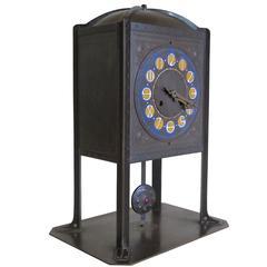 Amsterdam School Clock by J.C. Stoffels, Executed by Onder Den Sint-Maarten