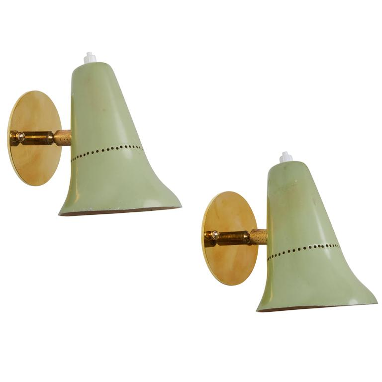 Pair of Articulating Sconces by Jacques Biny
