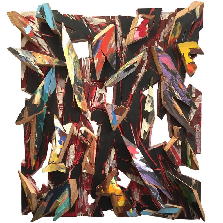 Important Charles Arnoldi Wood Construction - Signed and Dated 1