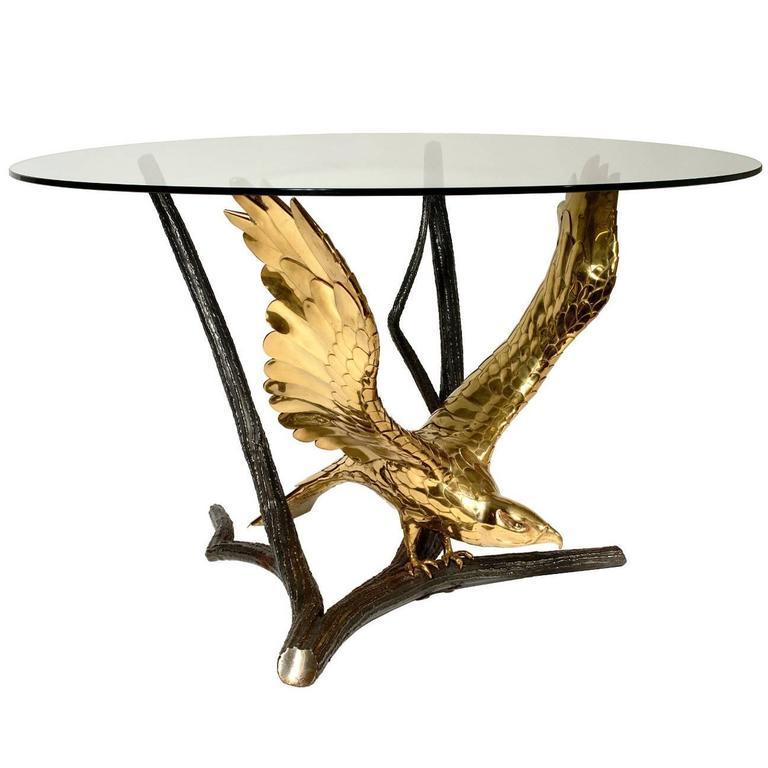 Eagle Dining Table by A. Chervet, circa 1970