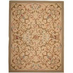 Handmade Rug, Floor Patterned Rug, Aubusson Rugs, Needlepoint Flat-Weave Rug
