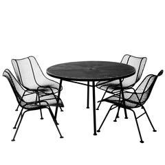 Russell Woodard Sculptura Outdoor Indoor Patio Dining Set Table Chairs