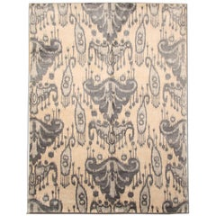 Damask Natural Rugs, Modern Rugs, Carpet from Nepal