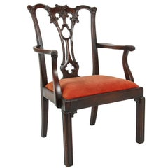 English Chippendale Style Mahogany Child's Chair