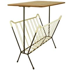 Sixties Danish Modern Magazine Rack/Side Table