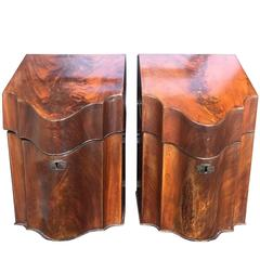 Georgian Mahogany Knife Boxes, circa 1800