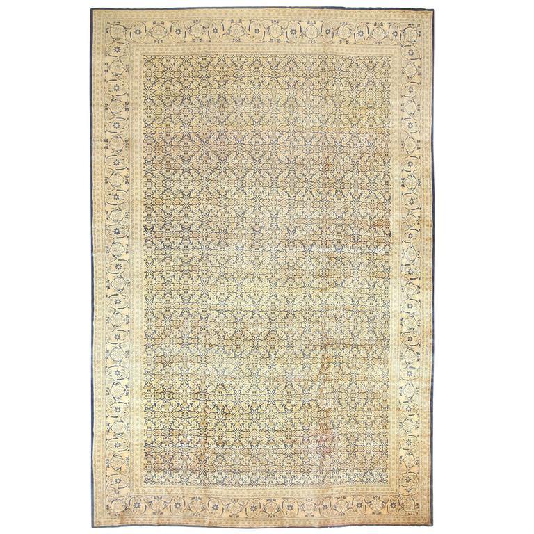 Oversized Antique Persian Tabriz Rug