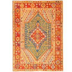 Beautiful Antique Turkish Oushak Rug