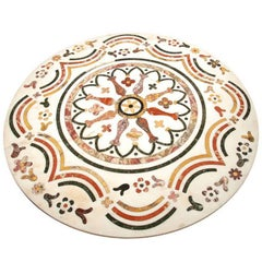 Antique Italian Inlaid Marble Tabletop