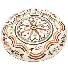 Antique Italian Inlaid Marble Tabletop