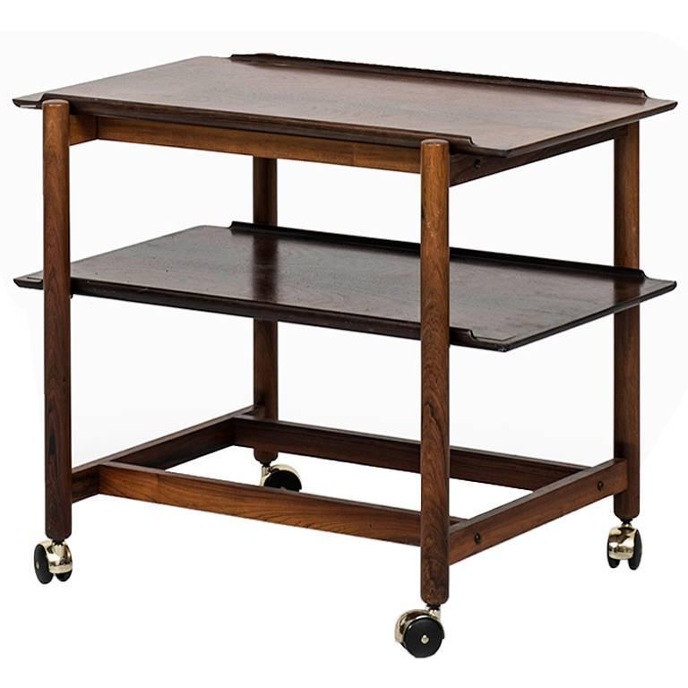 Poul Hundevad Trolley in Rosewood by Poul Hundevad & Co in Denmark
