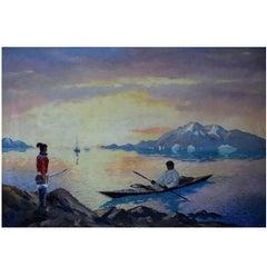 Evelyn Bøje Thorbjørn Andersen Coastal Scene from Greenland, Mid-20th Century