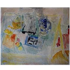 Georg Glud, Still Life, Oil on Panel, Listed Danish Artist