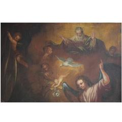 Oil Painting on Canvas, Unknown Old Master, 18th Century Biblical Scene