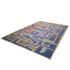 Gio Ponti Design Labyrinth Carpet, 1980s, made in Italy