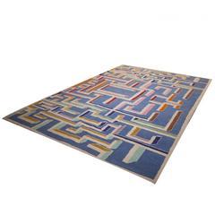 Gio Ponti Design Labyrinth Carpet, 1980s, Italy