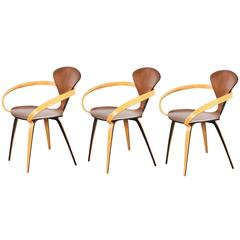 norman cherner molded plywood armchair for plycraft