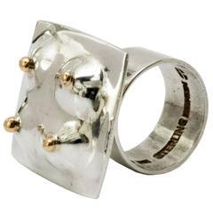 Scandinavian Modern Sterling Silver Ring by Ove Bohlin, 1971